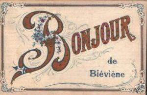 Oude postkaart van Bever