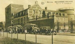 Oude postkaart van de voormalige brasserie, waar ons gasthof deel van uitmaakte.