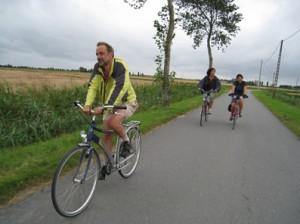 Balade à vélo à travers la campagne à Biévène
